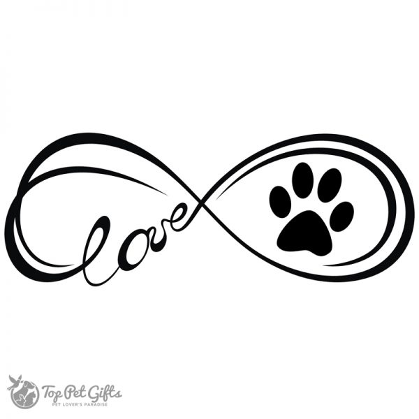 Infinity paw decal black