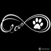 Infinity Paw Decal