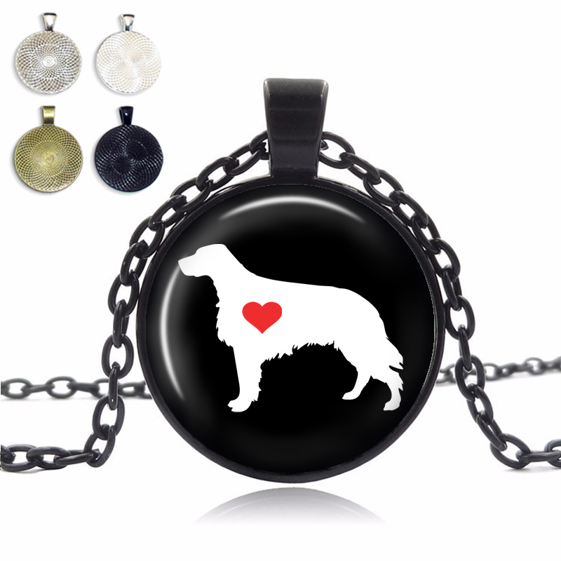 Irish Setter Love Glass Dome Necklace