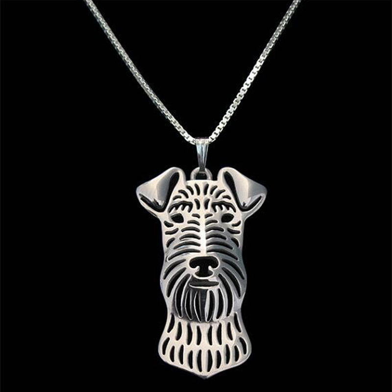 Irish Terrier Boho Cutout Necklace