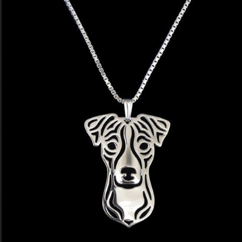 Jack Russel Terrier Boho Cutout Necklace