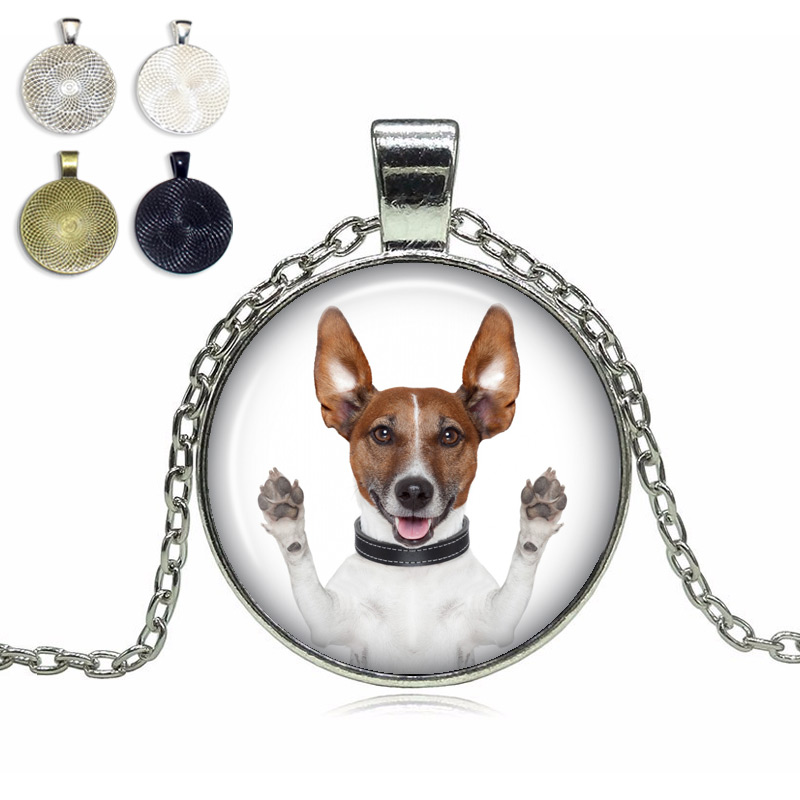 Jack Russel Terrier Glass Dome Necklace
