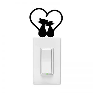 Kitty Love Wall Light Switch Decal