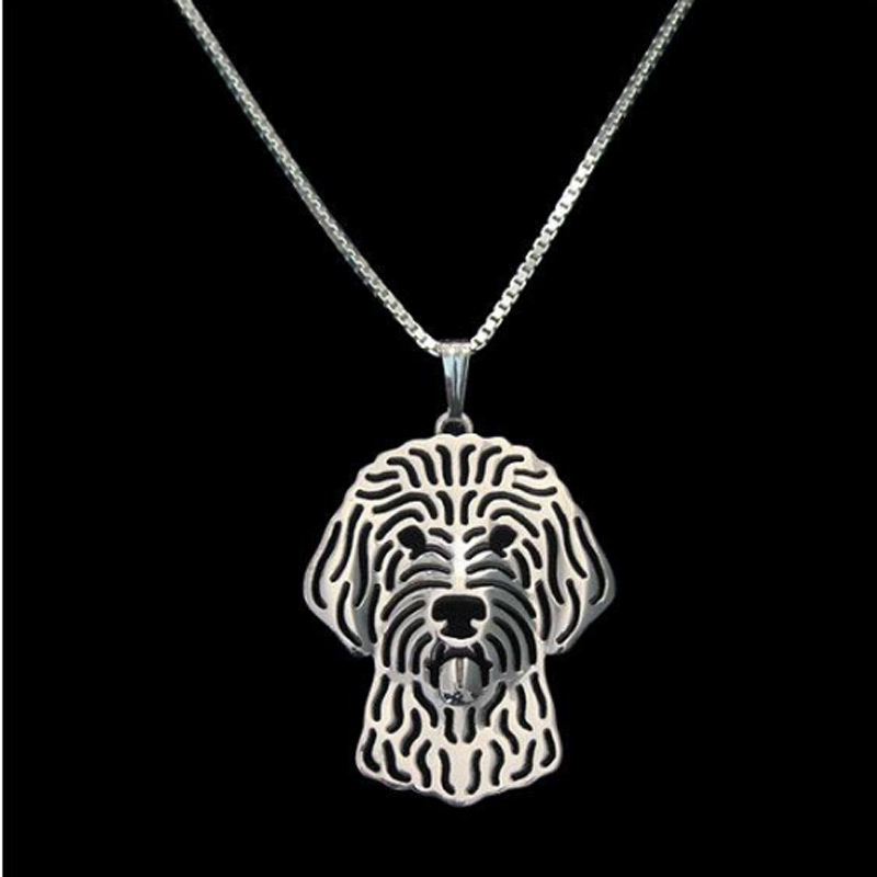 Labradoodle Boho Cutout Necklace