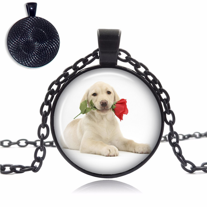 Labrador Glass Dome Necklace