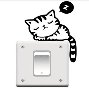 Light Switch Cat Decal