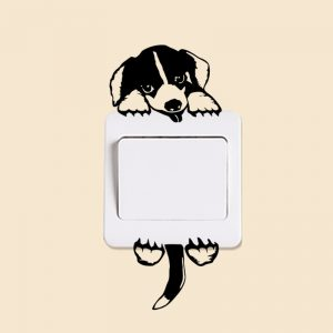 Light Switch Puppy Decal