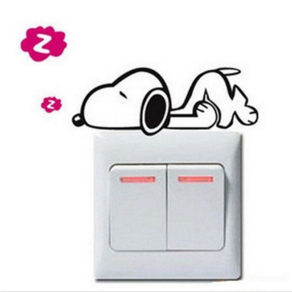 Light Switch Snoopy Decal