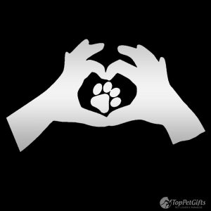 Love Sign with Paw Decal