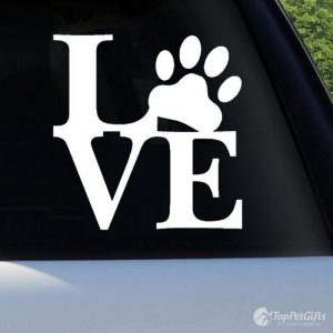 Love with Paw Decal