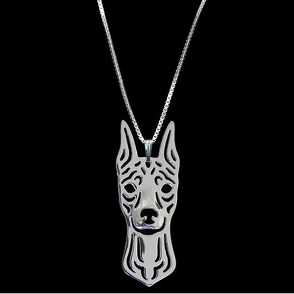 Miniature Pinscher Boho Cutout Necklace