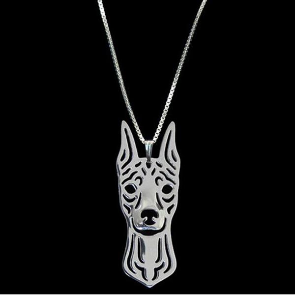 Miniature Pinscher Boho Cutout Necklace