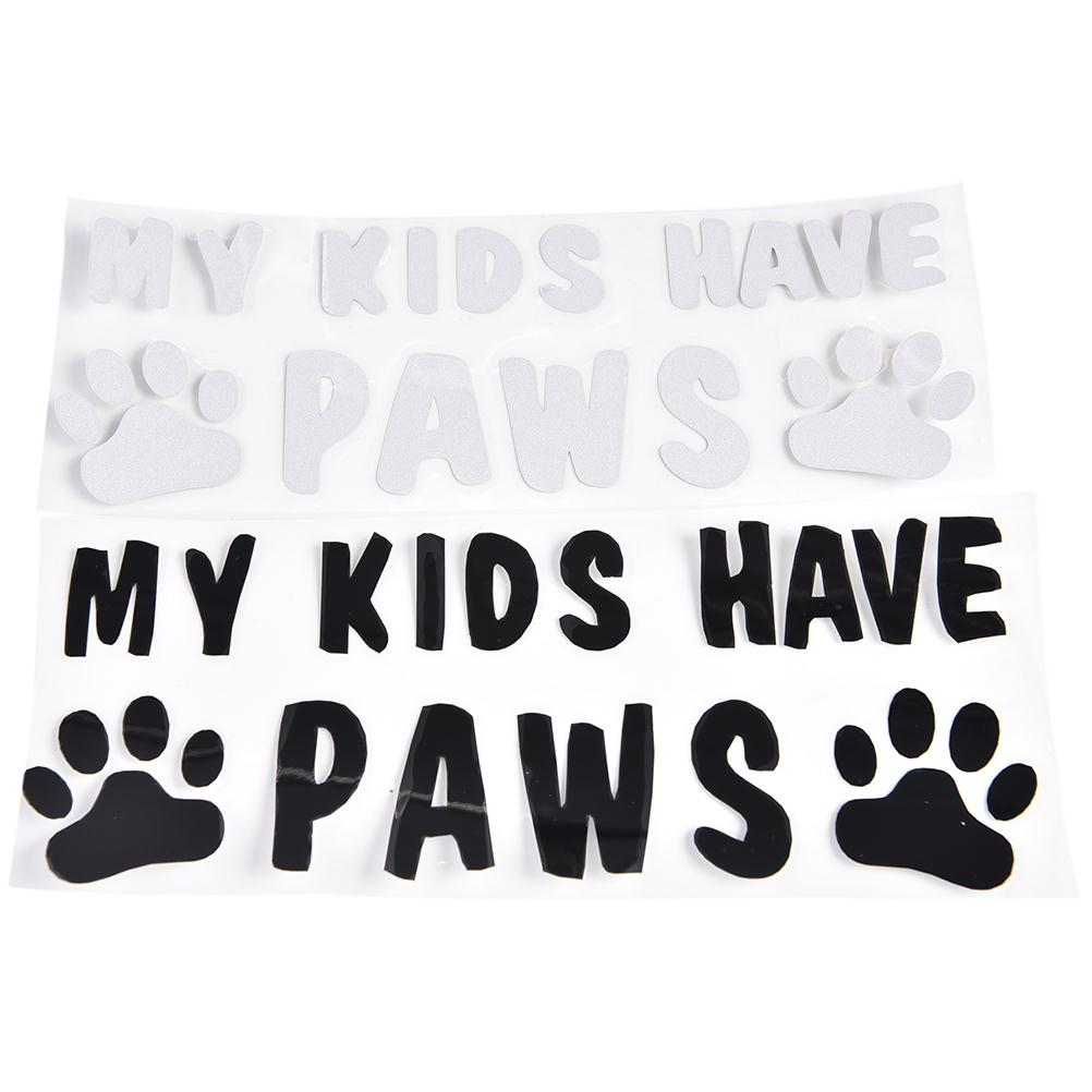 My kids have paws car sticker