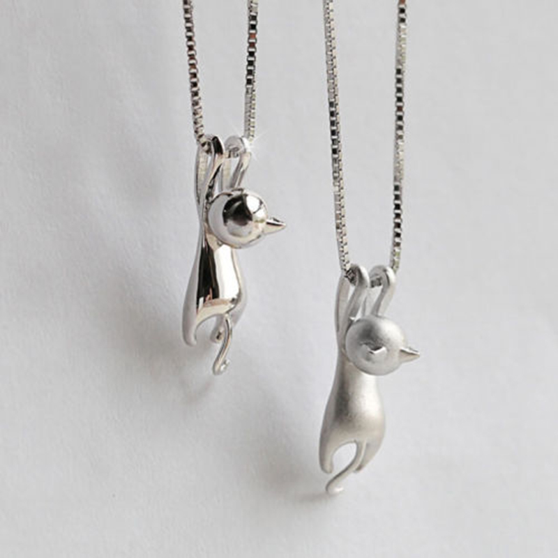 Sterling Silver Kitty Necklace