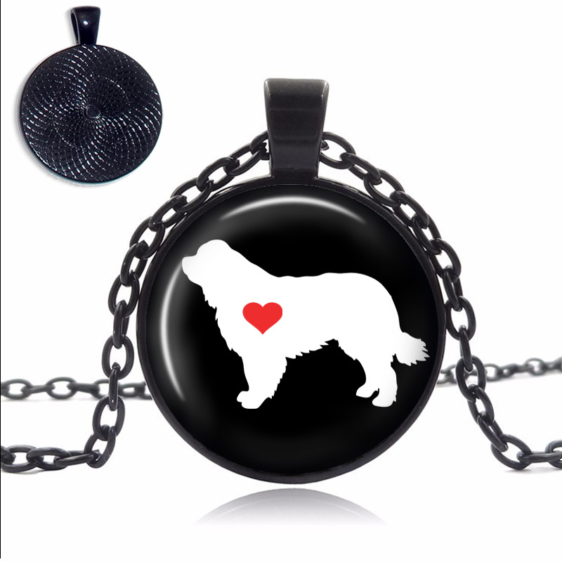 Newfoundland Love Glass Dome Necklace