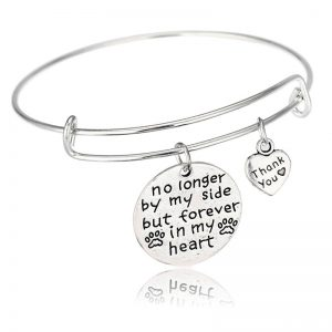 No Longer By My Side But Forever In My Heart Bracelet