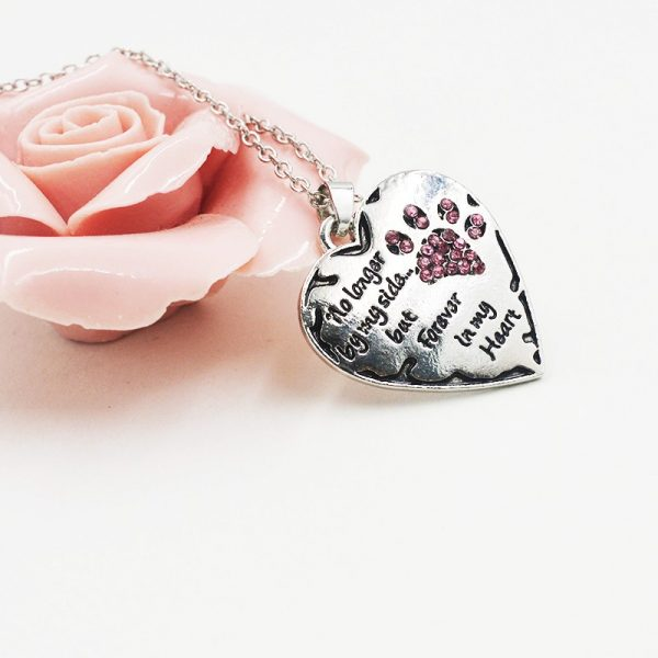 No Longer By My Side But Forever In My Heart Necklace