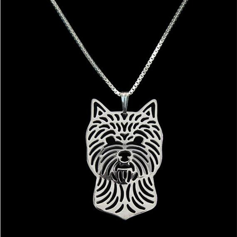 Norwich Terrier Boho Cutout Necklace