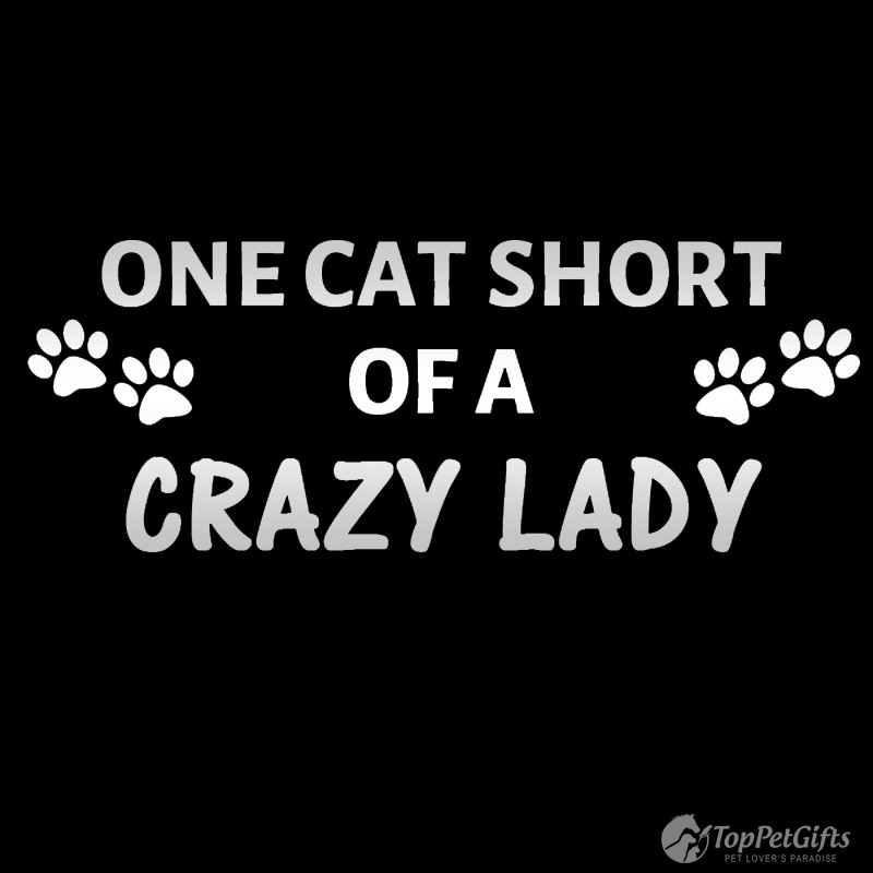 One Cat Short Decal