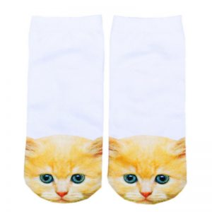 Orange Cat Socks