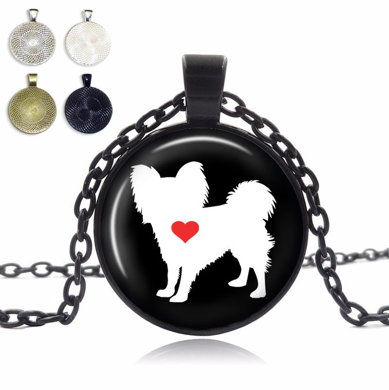 Papillon Love Glass Dome Necklace