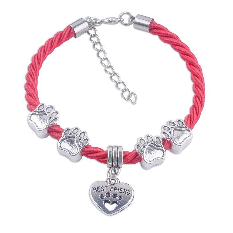 Best Friend Paw Charm Bracelet