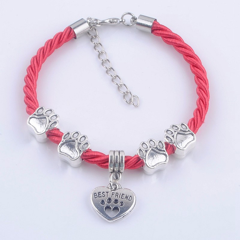 Best Friend Charm Bracelet: Best Friend Paw Charm Bracelet