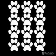 Paw Print Decals – Set of 12