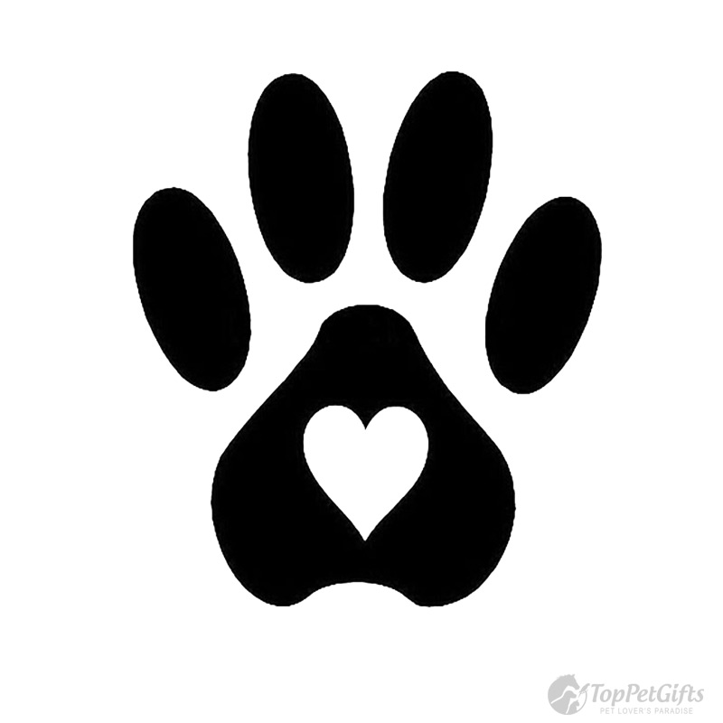 Paw With Heart Decal