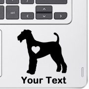 Personalized Airedale Terrier Decal