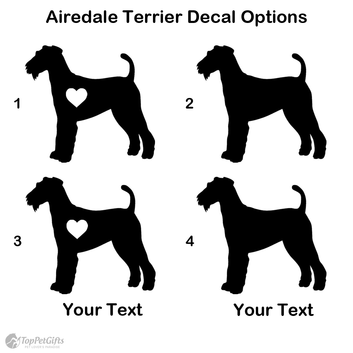Personalized Airedale Terrier Decal Options