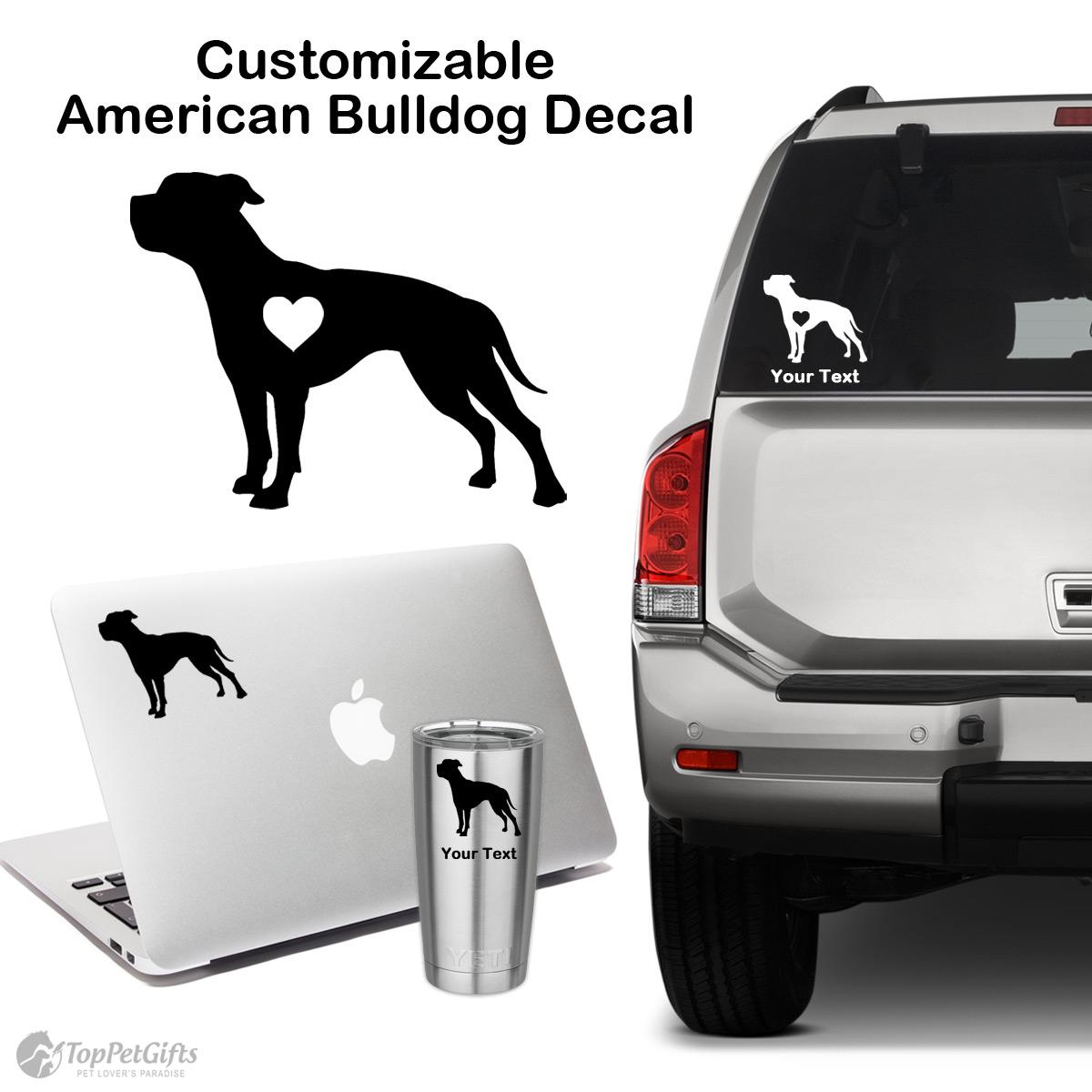 Personalized American Bulldog Decal