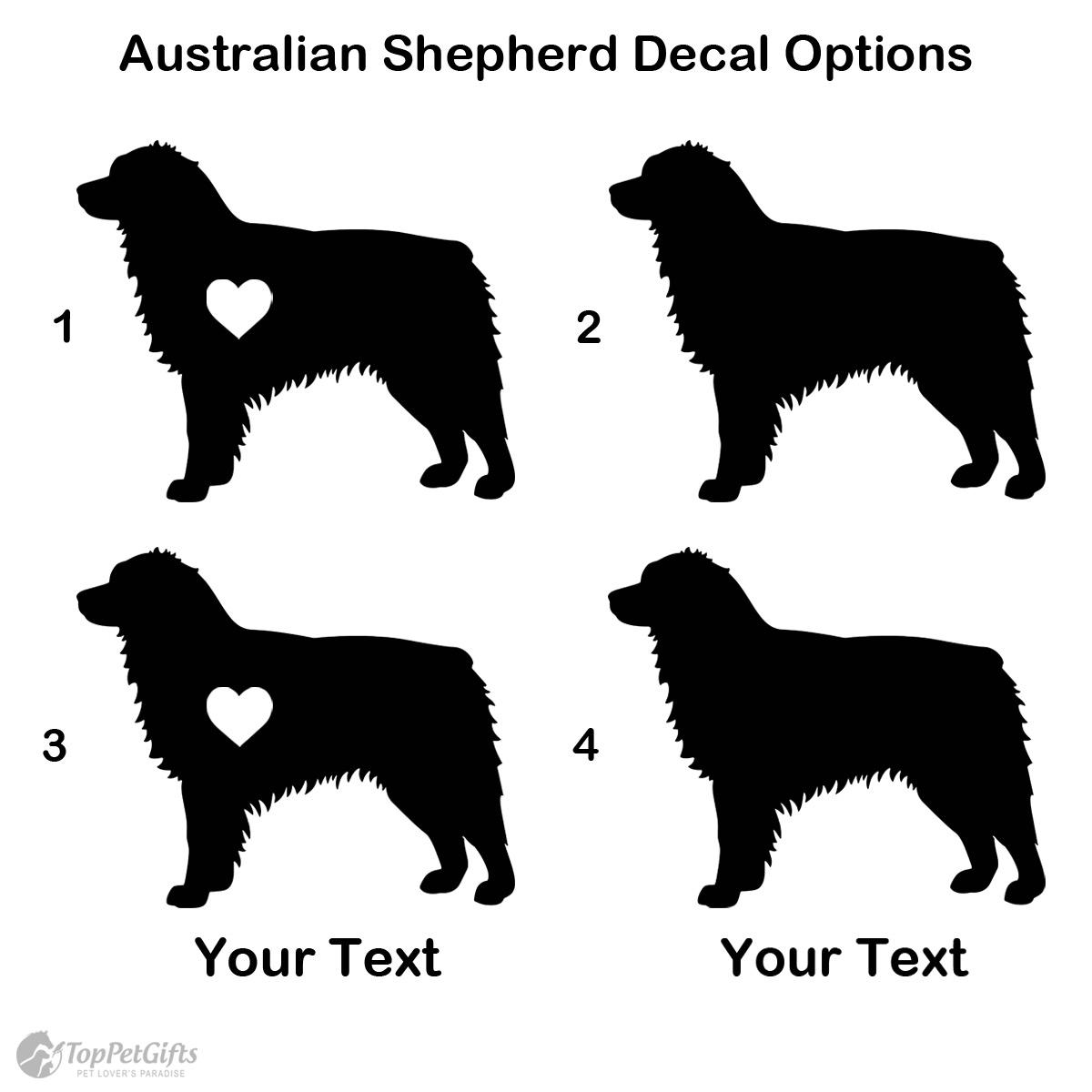 Personalized Australian Shepherd Decal