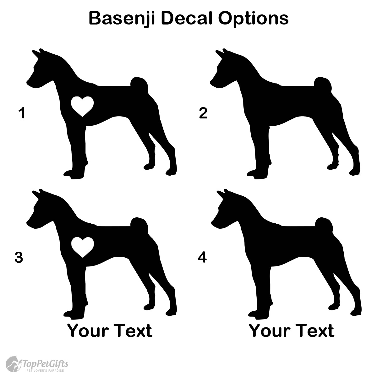 Personalized Basenji Decal