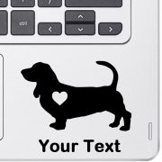 Personalized Basset Hound Decal