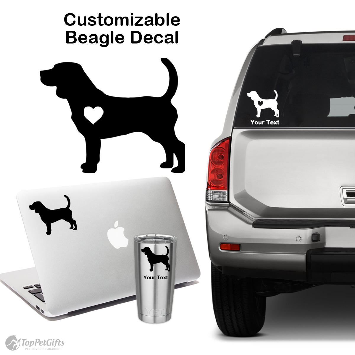 Personalized Beagle Decal