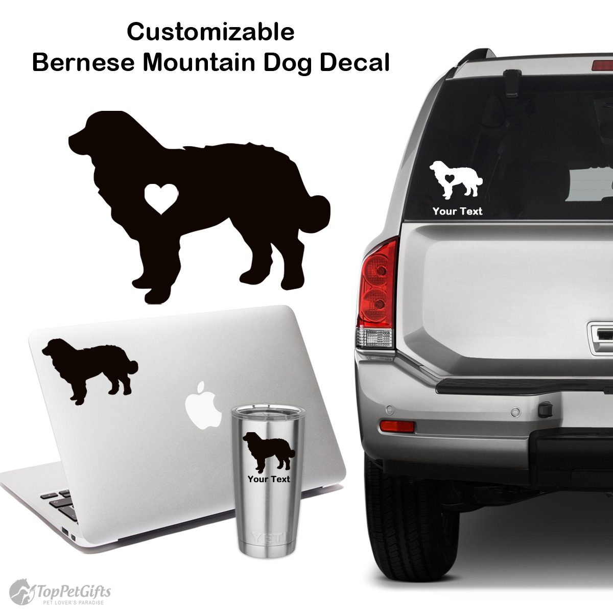 Personalized Bernese Mountain Dog Decal