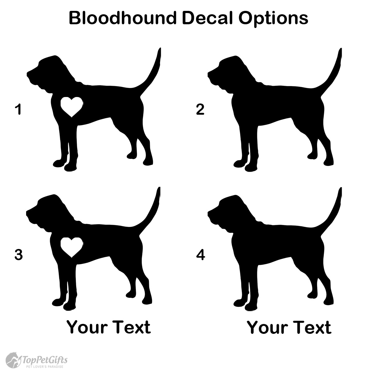 Personalized Bloodhound Decal
