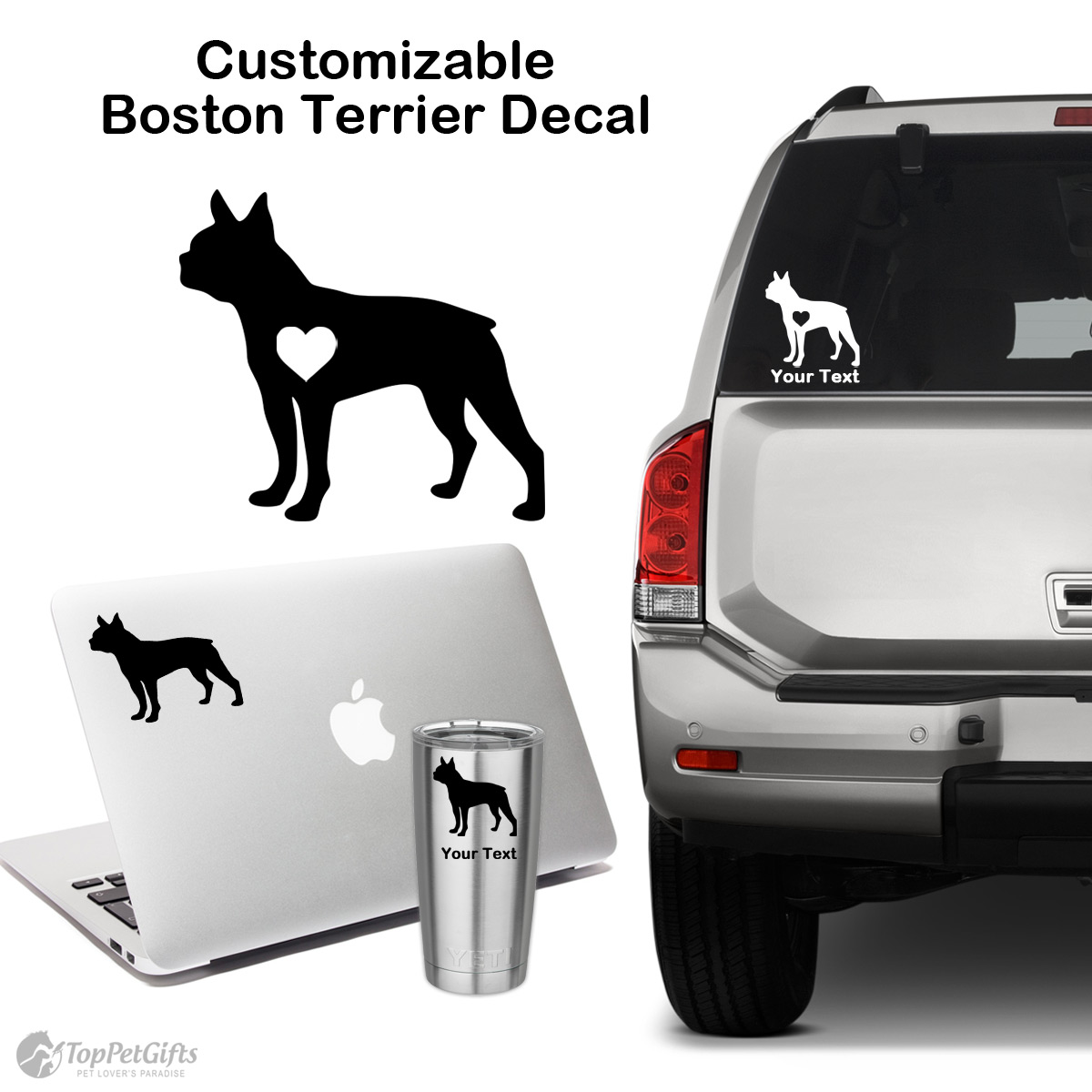 Personalized Boston Terrier Decal