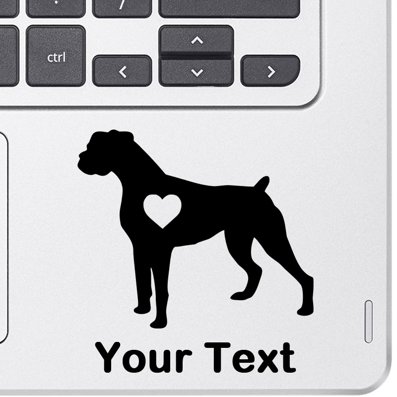 Personalized Boxer Decal