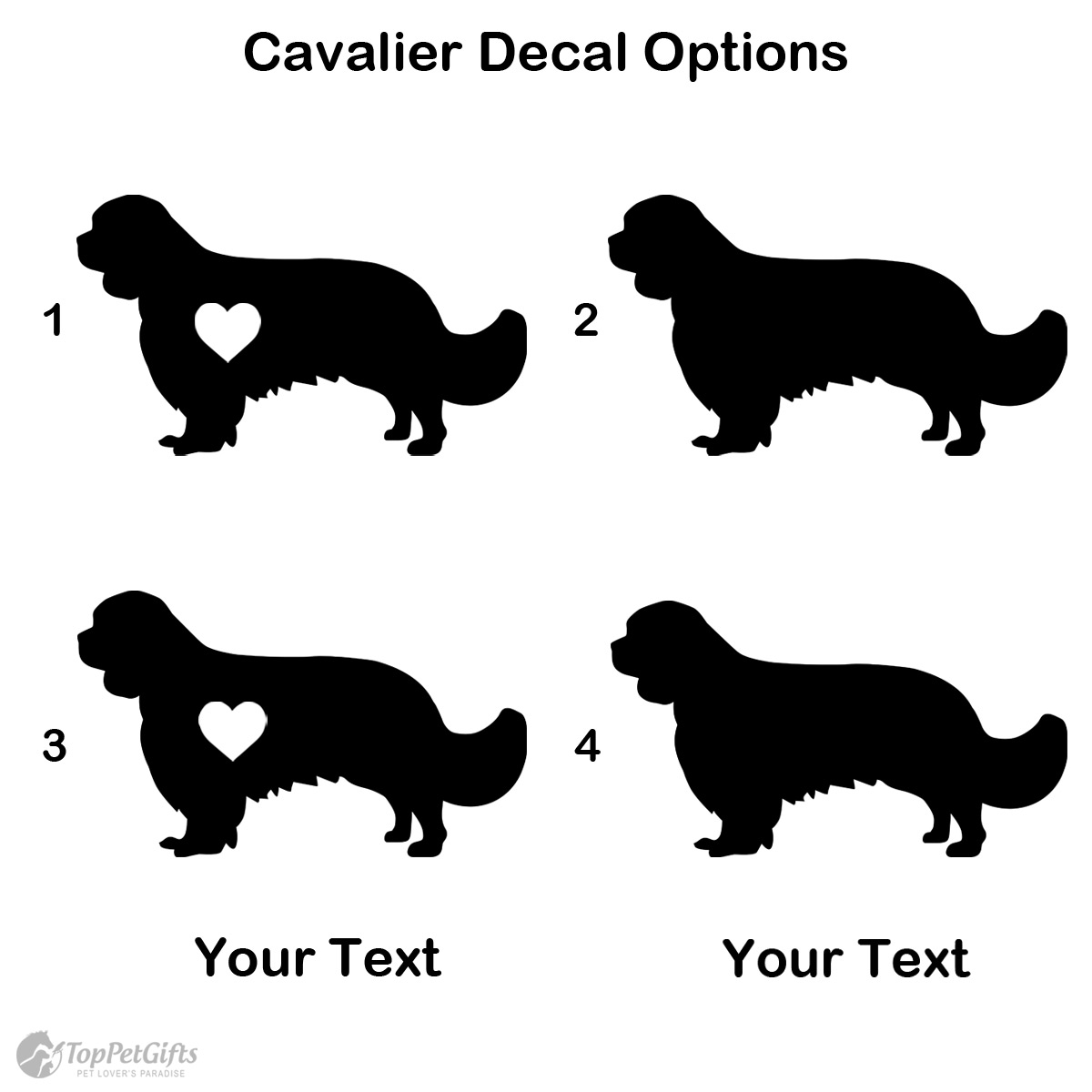 Personalized Cavalier Decal