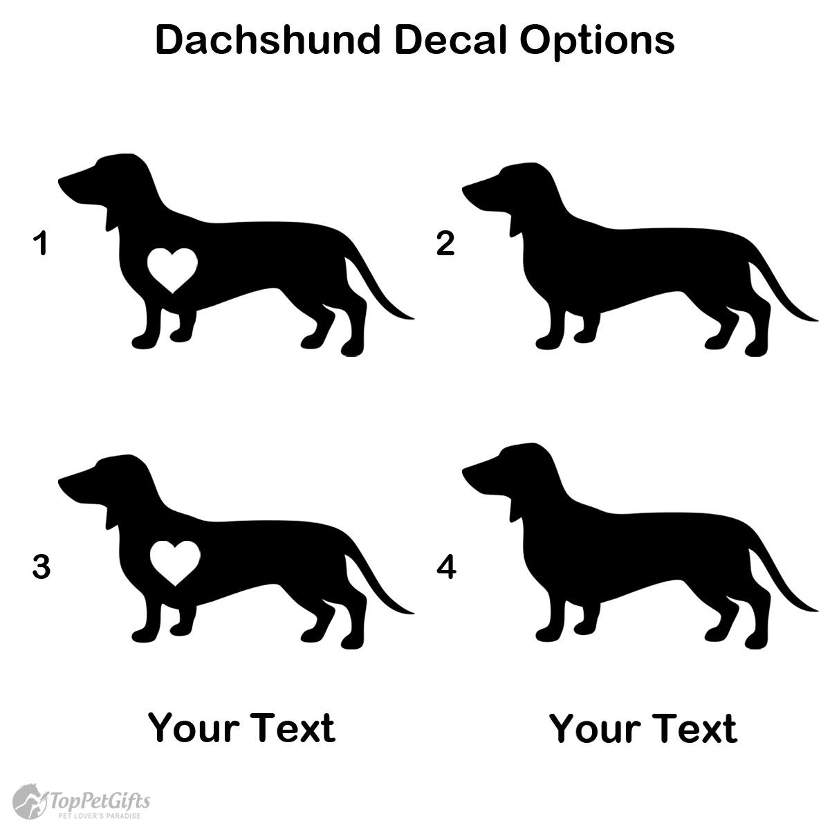 Personalized Dachshund Decal