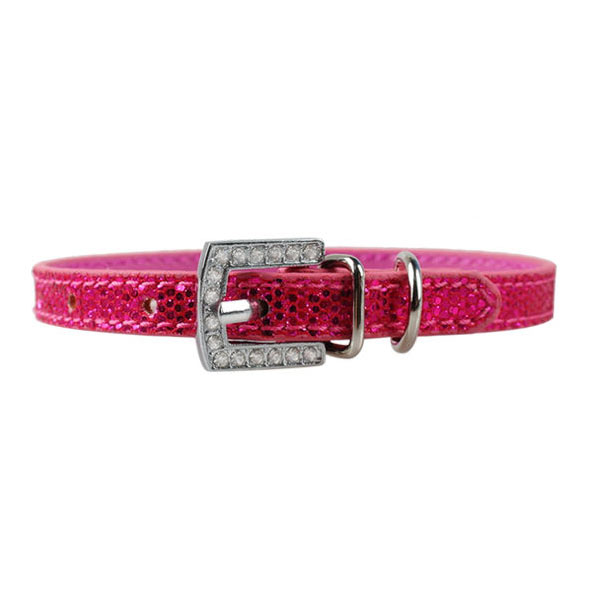 Personalized dog collar with rhinestone letters