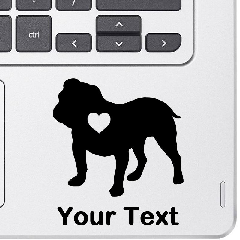 Personalized English Bulldog Decal