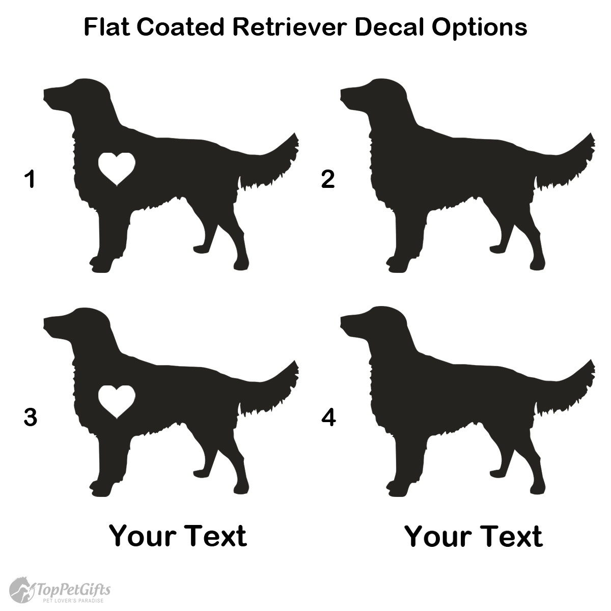 Personalized Flat Coated Retriever Decal