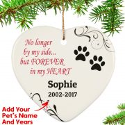 Personalized Forever In My Heart Christmas Ornament