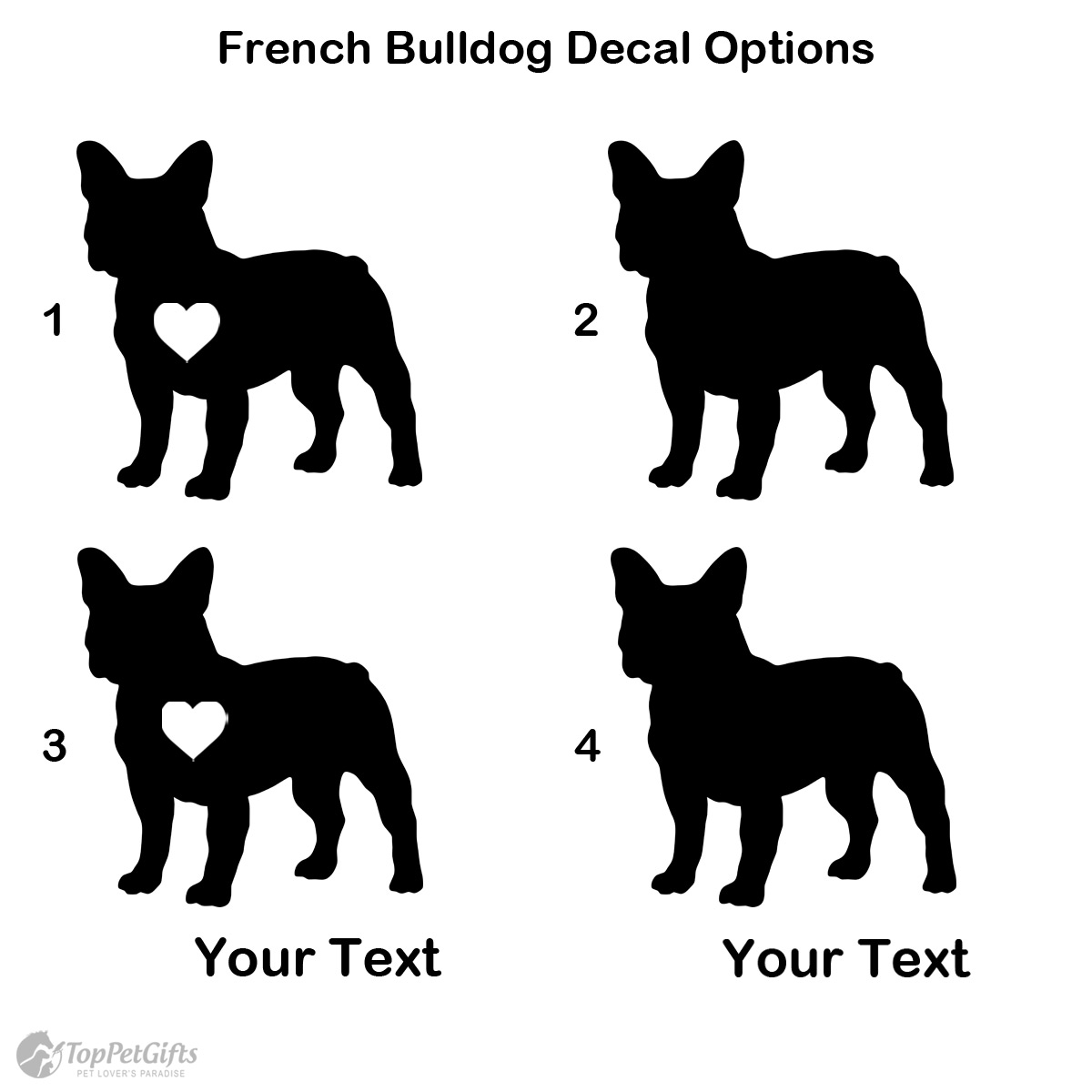 Personalized French Bulldog Decal