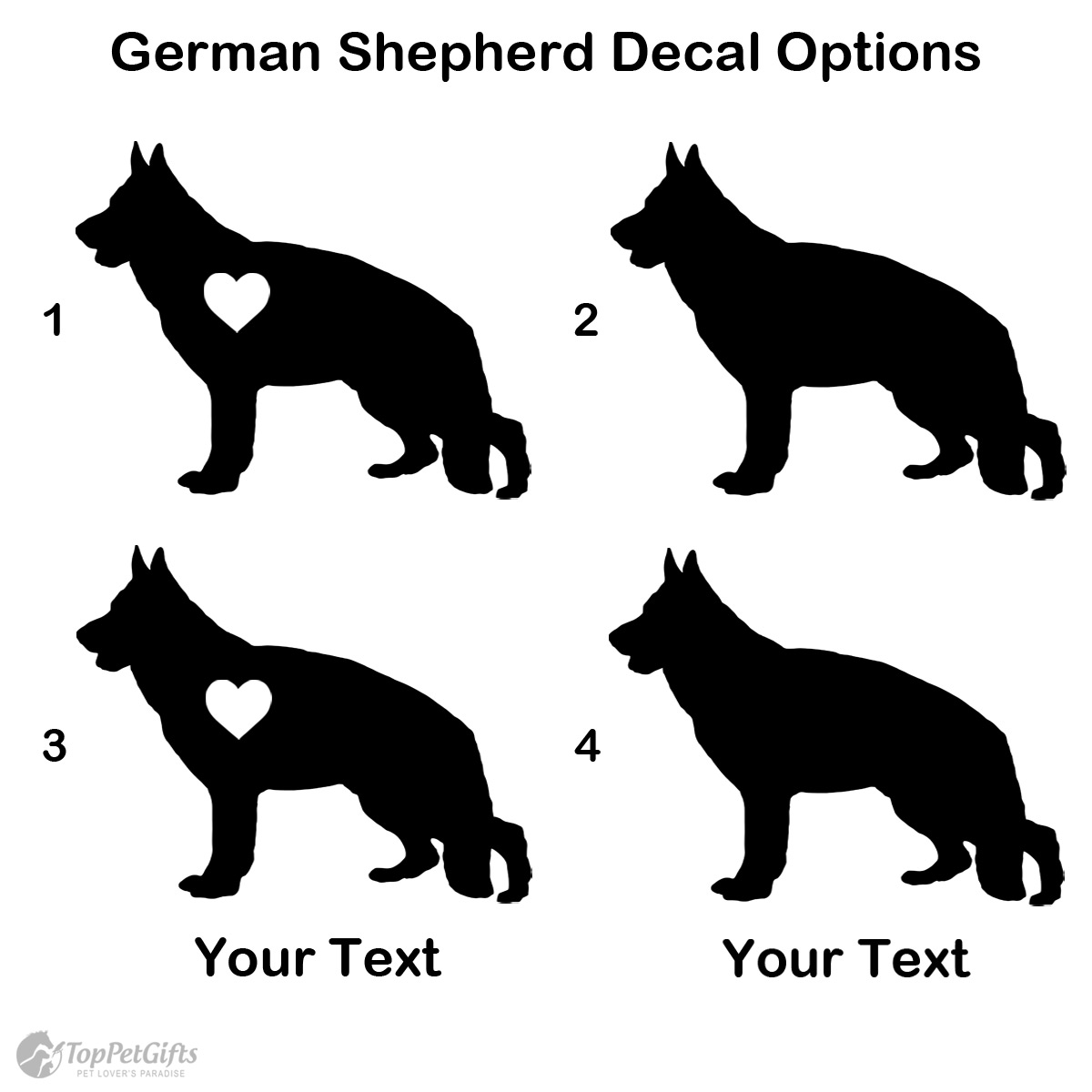 Personalized German Shepherd Decal