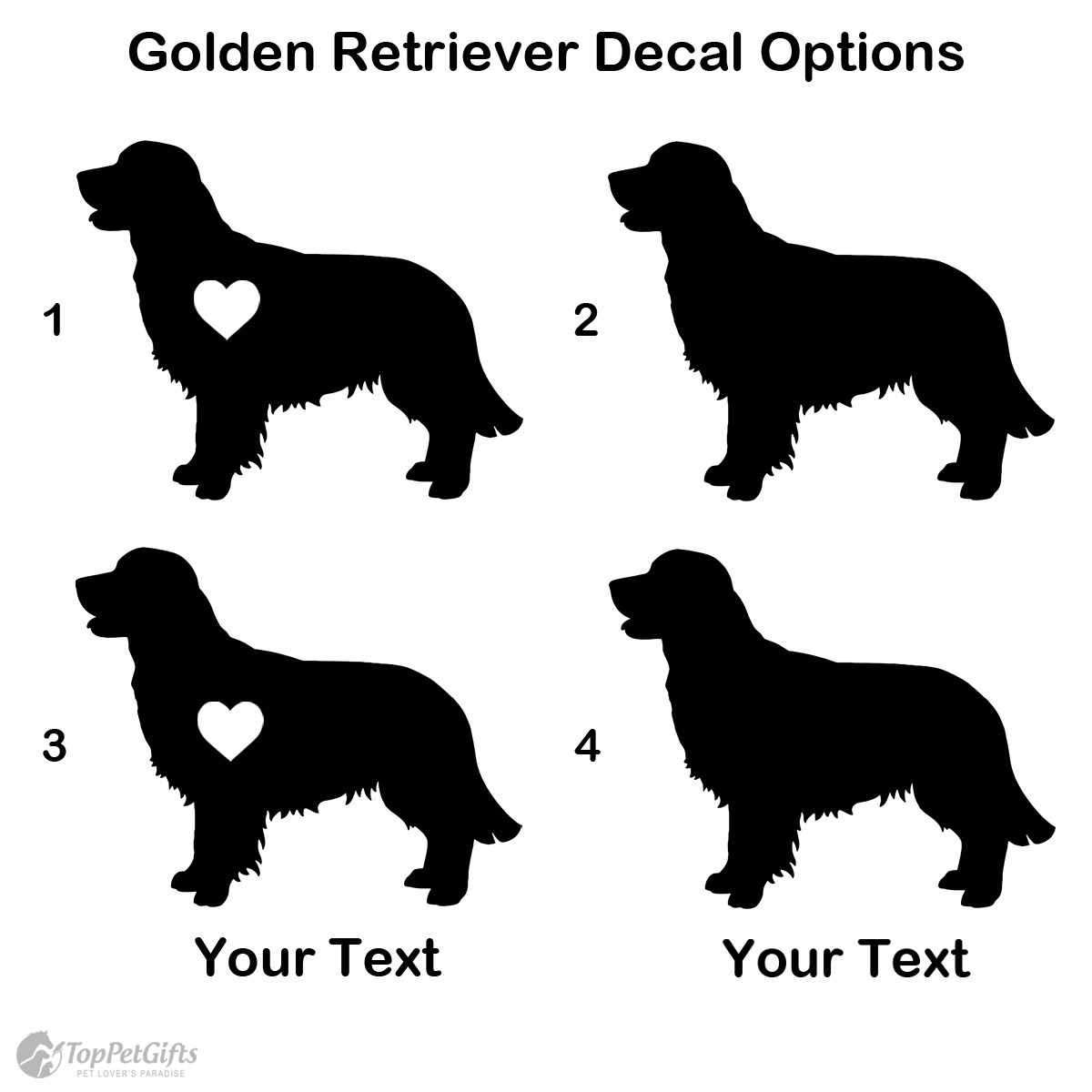 Personalized Golden Retriever Decal