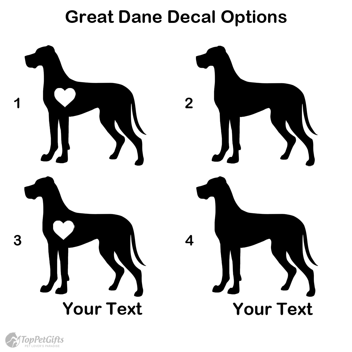 Personalized Great Dane Decal